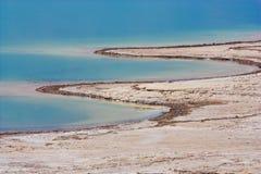 The Jordan side of Dead Sea stock image