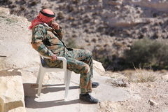 Jordan-soldier Stock Photography
