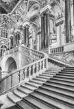 Jordan Staircase av vinterslotten, eremitboningmuseum, St-husdjur Royaltyfria Foton