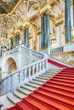 Jordan Staircase del palacio del invierno, museo de ermita, animal doméstico del St Fotografía de archivo
