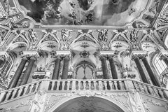 Jordan Staircase del palacio del invierno, museo de ermita, animal doméstico del St Imagen de archivo