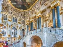 Jordan Staircase do palácio do inverno, museu de eremitério, animal de estimação do St imagem de stock