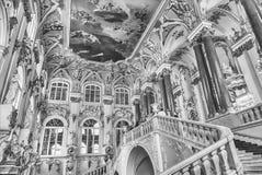 Jordan Staircase van het de Winterpaleis, Kluismuseum, St Huisdier Royalty-vrije Stock Afbeeldingen