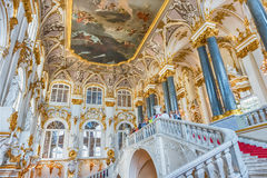 Jordan Staircase of the Winter Palace, Hermitage Museum, St. Pet Stock Photo