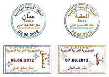 jordan syria Royaltyfria Bilder