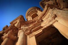 Jordan: Tomb in Petra. Tomb called The Monastery in Petra, Jordan royalty free stock photos