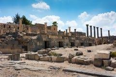 Jordan the Umm Qais Roman ruin. Ancient ruin at Umm Qais in Jordan Stock Photo