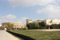 Jordan university library. Jordan university of science and technology , here is the library , its the biggest library in the middle east Royalty Free Stock Photography