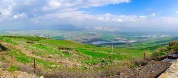 Jordan Valley视图 免版税库存图片