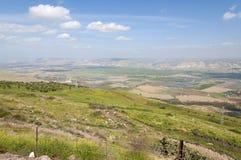 Jordan Valley en het Overzees van Galilee stock foto