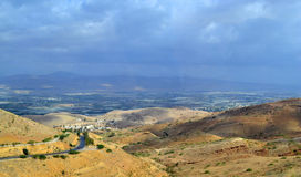 Jordan Valley. Looking towards Israel from the Jordanian side stock images