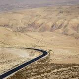 Jordan Valley - monteringsNebo väg Royaltyfria Foton
