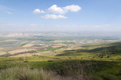 Jordan Valley och havet av Galilee Arkivfoto