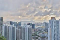 Jordan Valley Ping Shan sikt av kowloon Royaltyfria Bilder