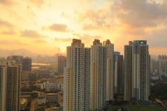 Jordan Valley Ping Shan sikt av kowloon Arkivfoto