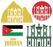 Jordan. Vector illustration (EPS 10 Stock Photo