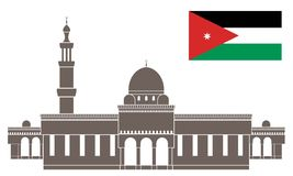 Jordan. Vector illustration (EPS 10 Royalty Free Stock Image