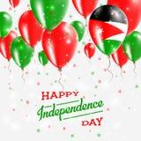 Jordan Vector Patriotic Poster Fond de grunge de l'indépendance Day Images stock
