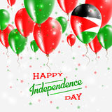 Jordan Vector Patriotic Poster Fond de grunge de l'indépendance Day Image stock