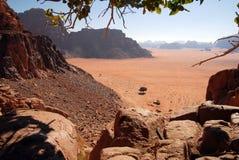 jordan wadi krajobrazowy rumowy Obrazy Stock