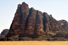 Jordan, Wadi Rum, Seven Pillars of Wisdom stock photography
