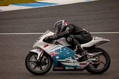 Jordan Zamora pilot of motorcycling of 125cc Stock Images