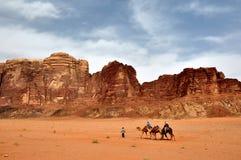 Jordanië - de Rum van de Wadi Stock Foto's