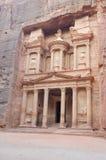 Jordanië - de schatkist, Petra royalty-vrije stock afbeeldingen