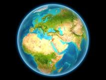 Jordanië op aarde Royalty-vrije Stock Afbeelding