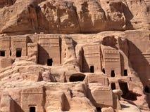 Jordanië - Petra, catacomben royalty-vrije stock foto's
