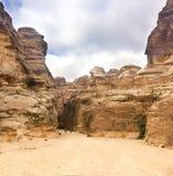 jordanië Petra is een Plaats van de Erfenis van de Wereld van Unesco sinds 1985 geweest royalty-vrije stock afbeeldingen