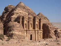 Jordanië - Petra, Klooster royalty-vrije stock afbeelding