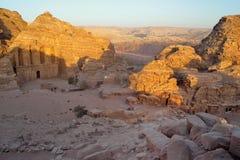 Jordanië - Petra, Klooster stock foto