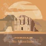 jordanië Retro gestileerd beeld Stock Afbeelding