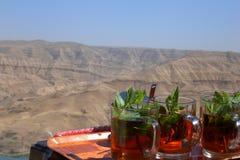 Jordanië - Thee in de woestijn royalty-vrije stock fotografie