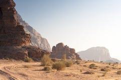 Jordania沙子视图 库存图片
