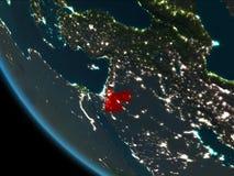 Jordania en la noche de la órbita ilustración del vector