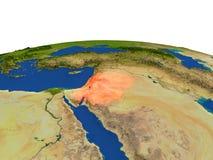 Jordania en rojo de la órbita libre illustration