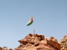 Jordania flaga Obrazy Stock