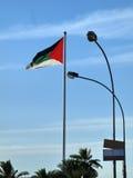 Jordania flaga Zdjęcie Royalty Free