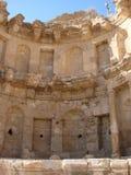 Jordania Gerasa jest antycznym Romańskim miastem Decapolis Panorama antyczne Romańskie kultur ekskawacje zdjęcia royalty free