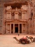 Jordania, Petra. Skarbu ukryty skarb (skarbiec) Zdjęcie Stock