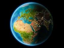 Jordania por la tarde Imagen de archivo libre de regalías