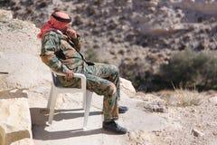 Jordania-soldado Fotografía de archivo