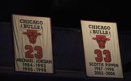 Jordania y Pippen--Greats para Chicago Bulls imagen de archivo