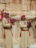 Jordanian Arabs playing traditional music Stock Photography