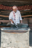 Jordanian chef Royalty Free Stock Images