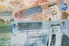 Jordanian dinar banknotes Stock Image