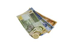 Jordanian Dinar (JOD) on White Royalty Free Stock Photography