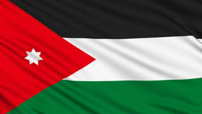 Jordanian flag. Stock Photo